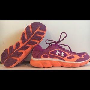 UNDER ARMOUR Sz 7 Purple Athletic Shoe